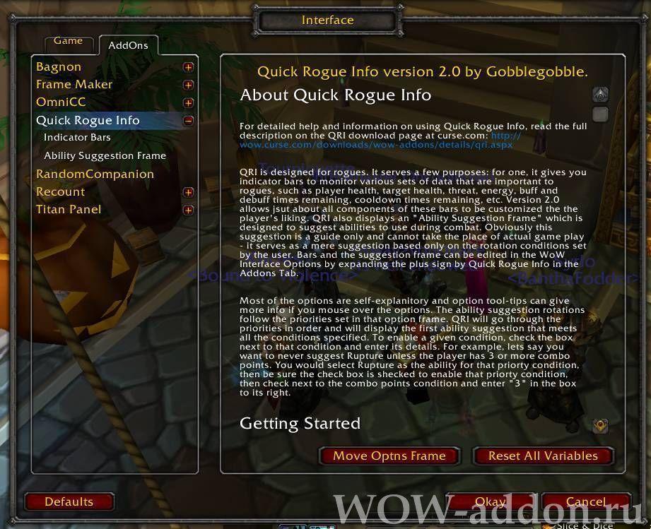 Quick Rogue Info